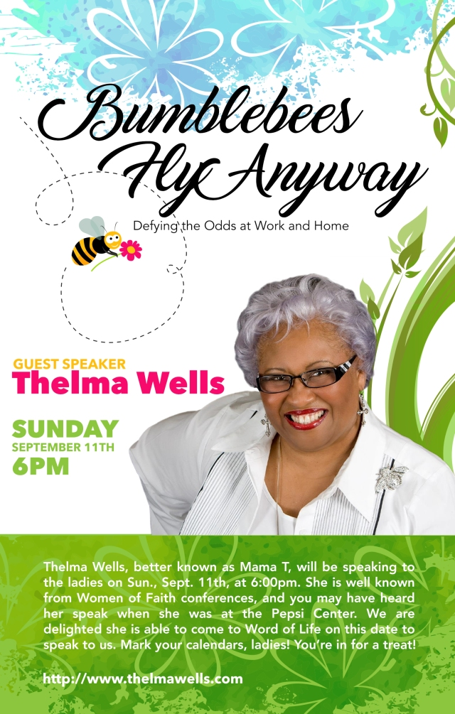 Thelma Wells Bulletin back